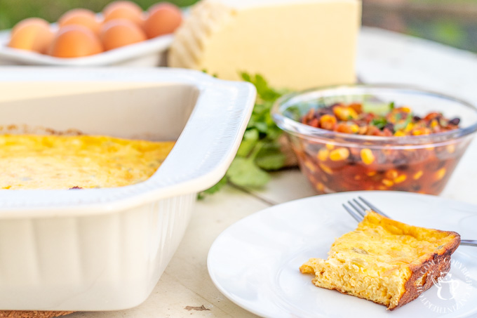 It's easy, pantry-friendly, flexible, works for breakfast, lunch, or dinner, & makes great leftovers! What's not to love about this chile relleno casserole?