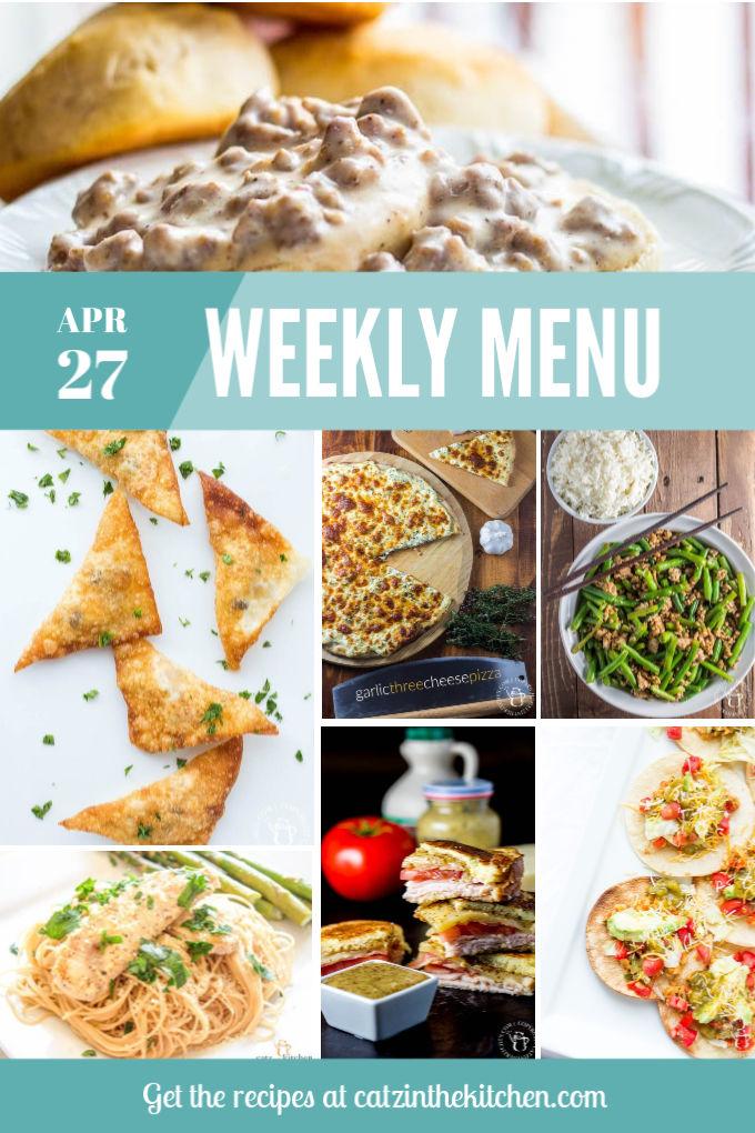 Weekly Menu for the Week of Apr 27