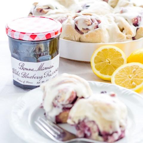 Wild Blueberry Lemon Sweet Rolls