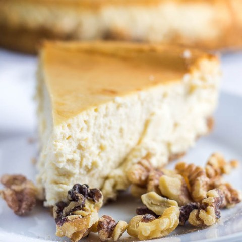 Maple Walnut Cheesecake