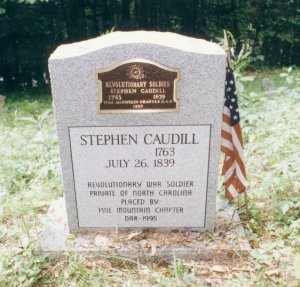 Stephen Caudill Rev War Soldier