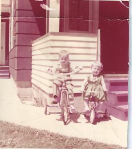 LeRoy Caudill. Iva Ann Caudill Parsons, Clinton Street, Albion MI