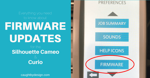 how to update firmware and software silhouette