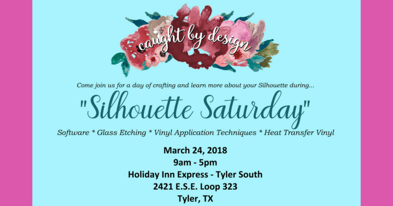 It's here!!! Silhouette Saturday: A Hands-On Workshop