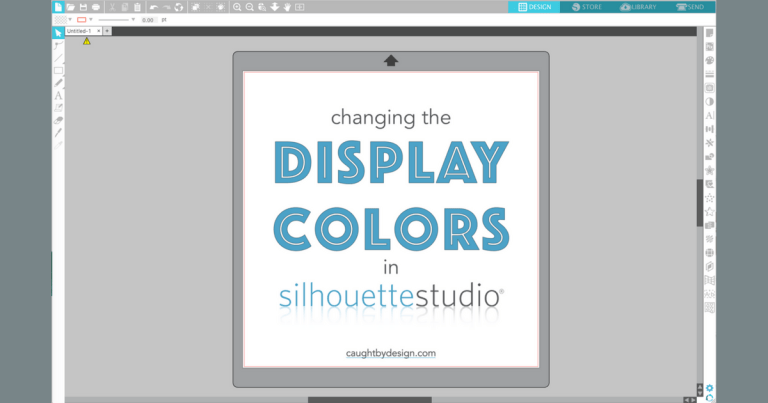 Silhouette Studio Preferences: Changing the Display Colors