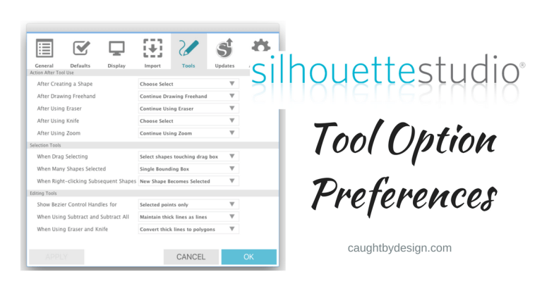 Silhouette Studio Preferences: Tool Options