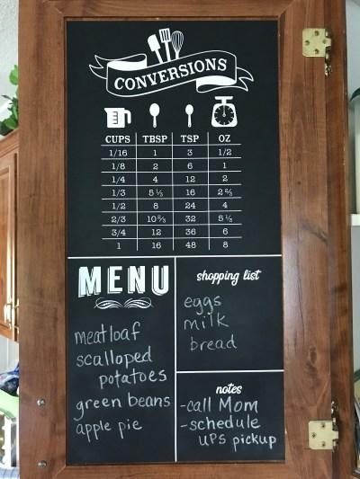Diy Chalkboard Kitchen Command Center Caught By Design