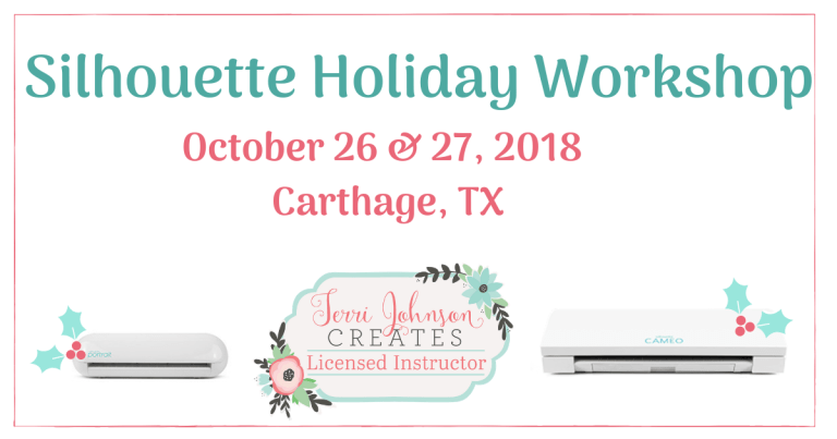 It's Time for the Silhouette Holiday Workshop!