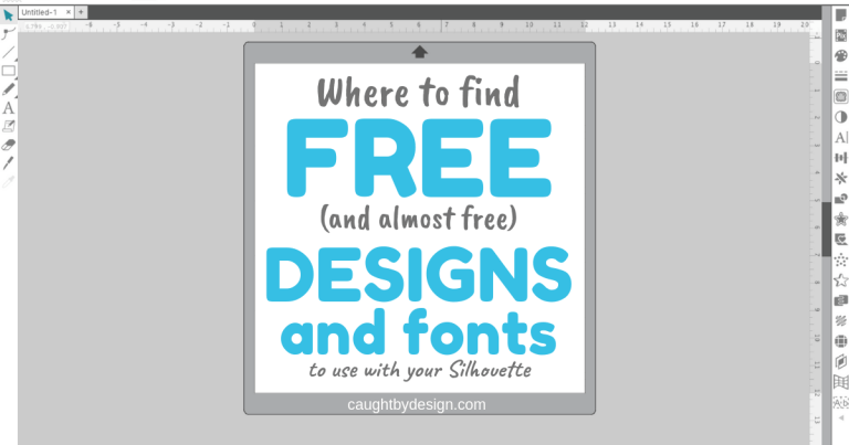 Where to find FREE (and almost free!) Designs and Fonts to use with your Silhouette