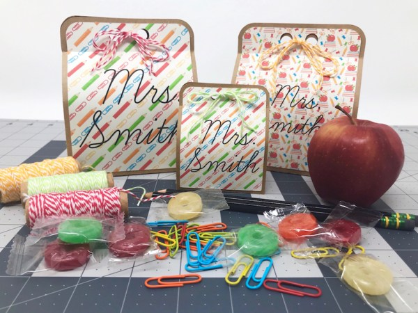 Back to School, Teacher Gift, Gift Idea, Silhouette, Print & Cut, Silhouette Studio, Printable Patterns, Pattern Fill