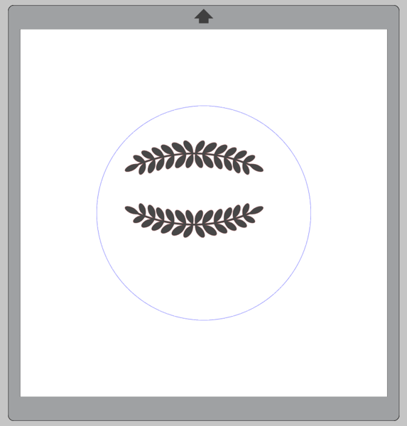 Screenshot of Laurel Leaf Borders within a blue circle