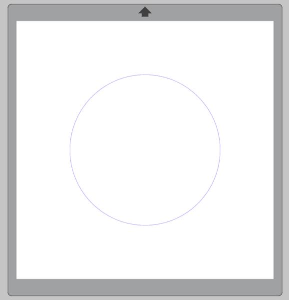 Screenshot of blue circle drawn in Silhouette Studio