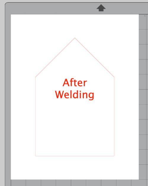 Screenshot of welded shapes in Silhouette Studio