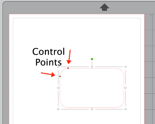 Screenshot of Rounded Rectangle Control Points in Silhouette Studio