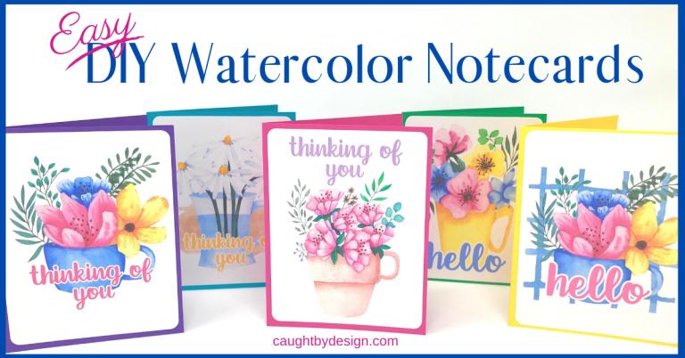 Easy DIY Watercolor Notecards