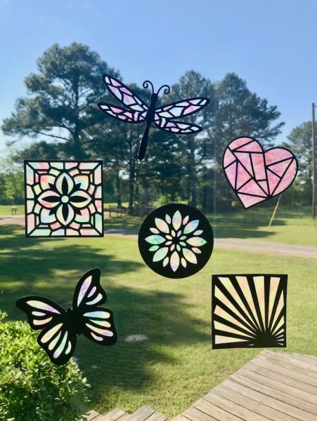 Crayon Stained Glass Suncatchers