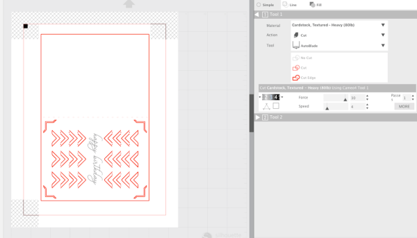 Silhouette Studio Send Panel