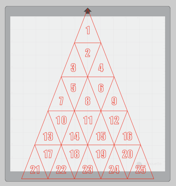 Advent Calendar layout in Silhouette Studio