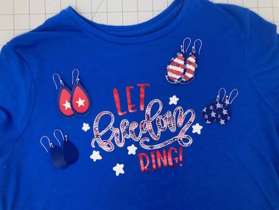 Patriotic Earrings Free SVG