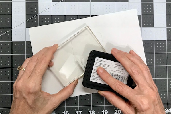 Inking with sublimation ink stamp pad
