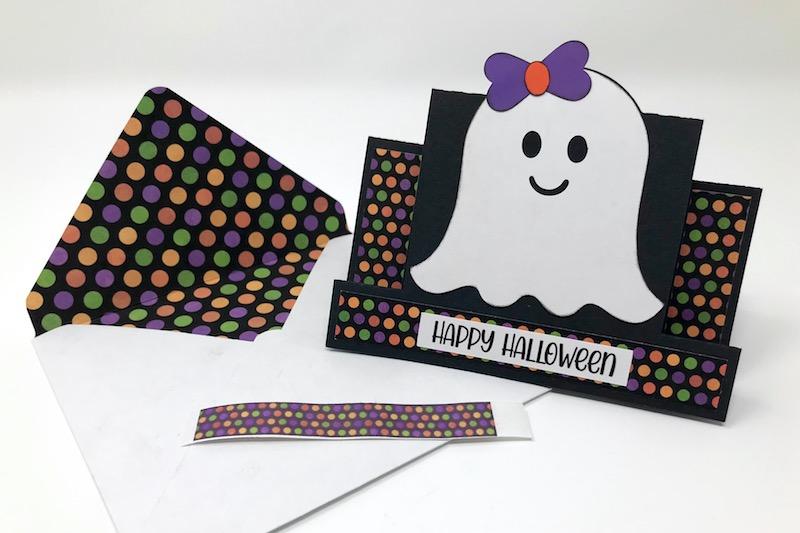 Halloween Card with Custom Washi Tape