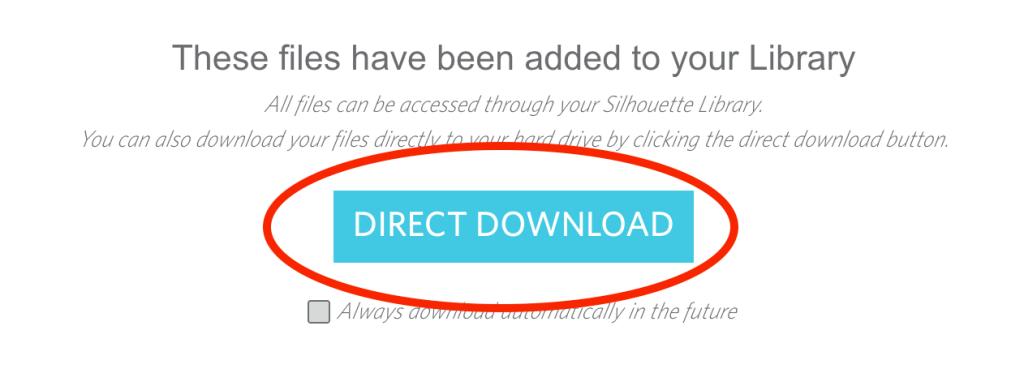 SIlhouette Design Store Direct Download