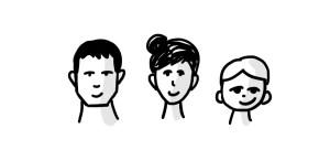 Les visages selon le genre et l'âge