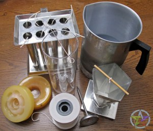 Basic Candle Making Tools - Molds, Wick, Thermometer and Melting Pot