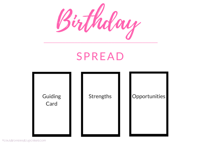 How To Do A Birthday Tarot Or Oracle Spread Cauldrons And Cupcakes