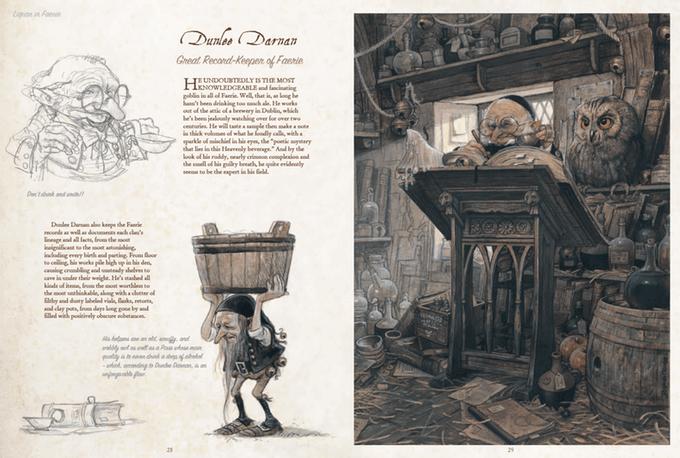 Extrait de Celtic Fairies, The secret kingdom : des gnomes érudits et travailleurs.