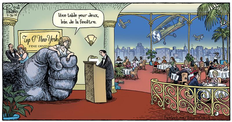 Bizarro, un excellent cadeau pour papa (fête des pères). Humour de King Kong.