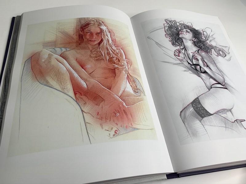 Muse : exploration of the female form par James Martin. Dessins de femmes en toute intimité.