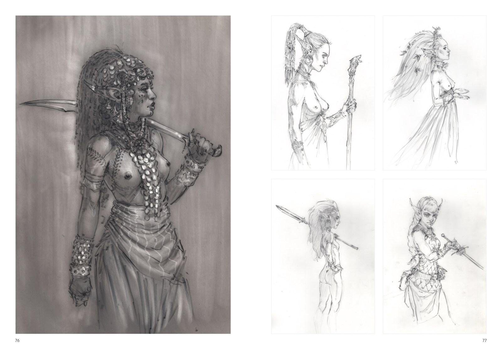 Image de l'artbook Daya de Daniel Landerman. Femmes mystiques.