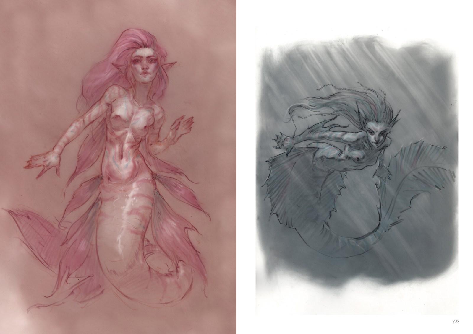Femmes sirènes mystérieuses et magiques.