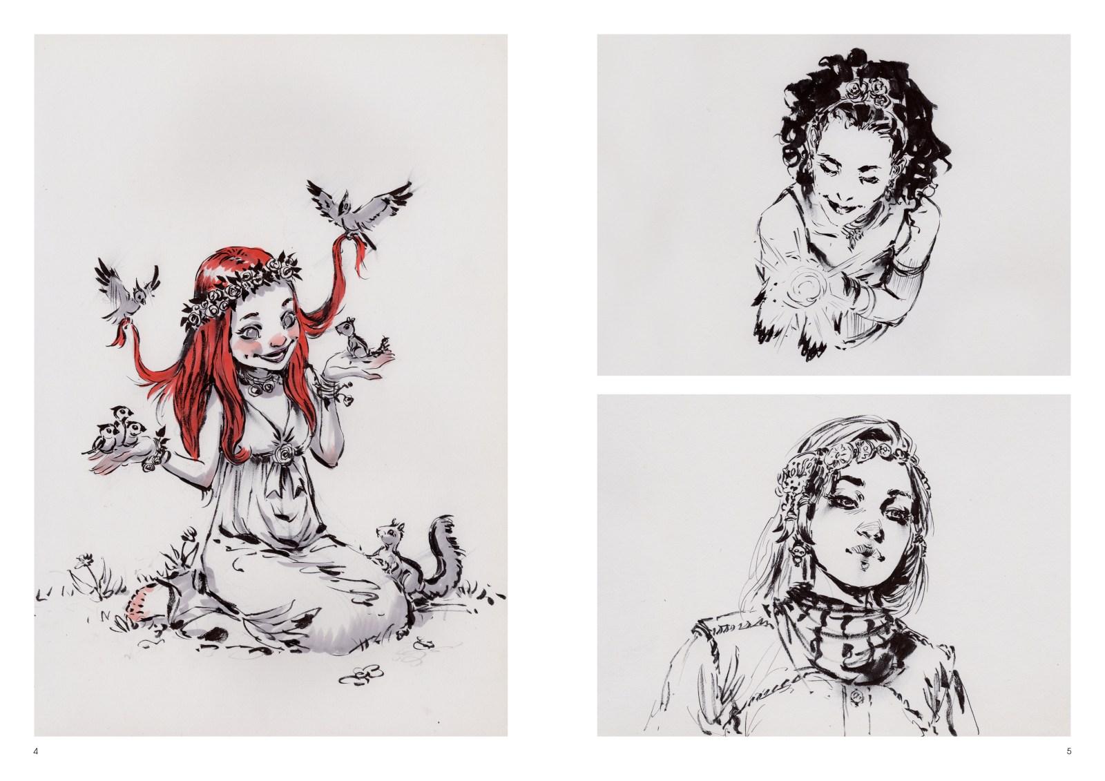 Image de l'artbook Daya de Daniel Landerman. Portaits féériques.