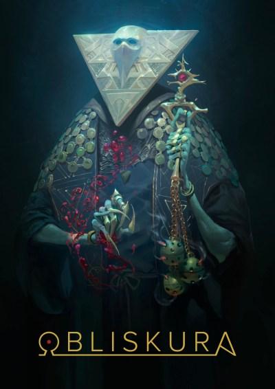 Couverture d'Obliskura d'Alex Konstad, un monde de fantasy noire.