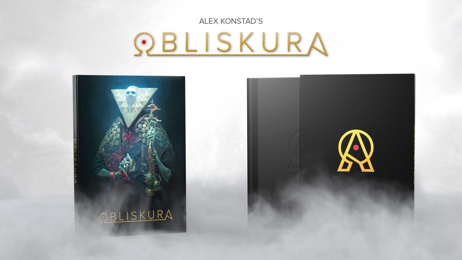 Bandeau de présentation pour l'artbook Obliskura d'Alex Konstad.