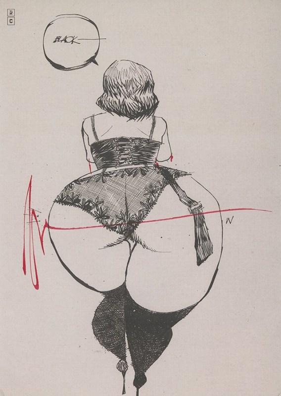 Ex-libris de l'artbook Ashley Wood - AWD XL BLACK, signé par l'artiste.