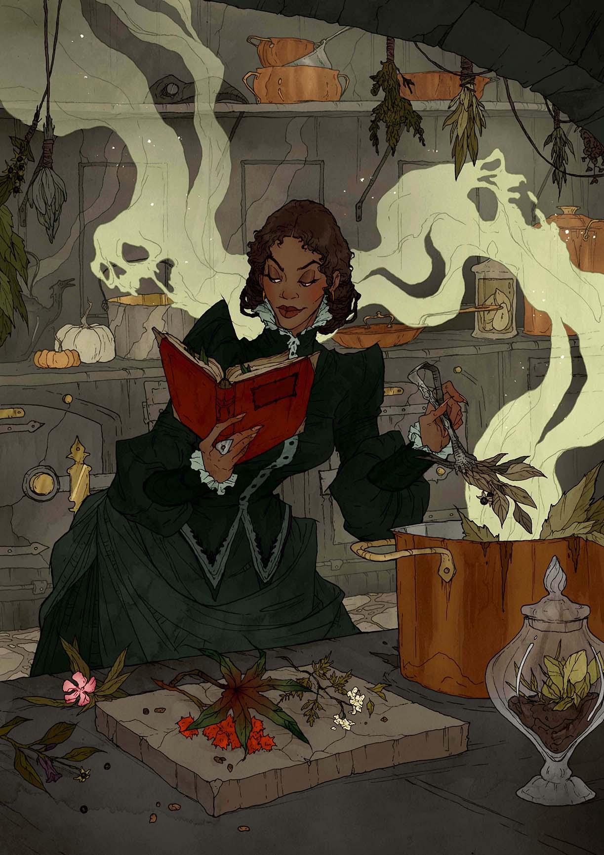 Crimson d'Abigail Larson. Potion, sortilège, poison, ou les trois...