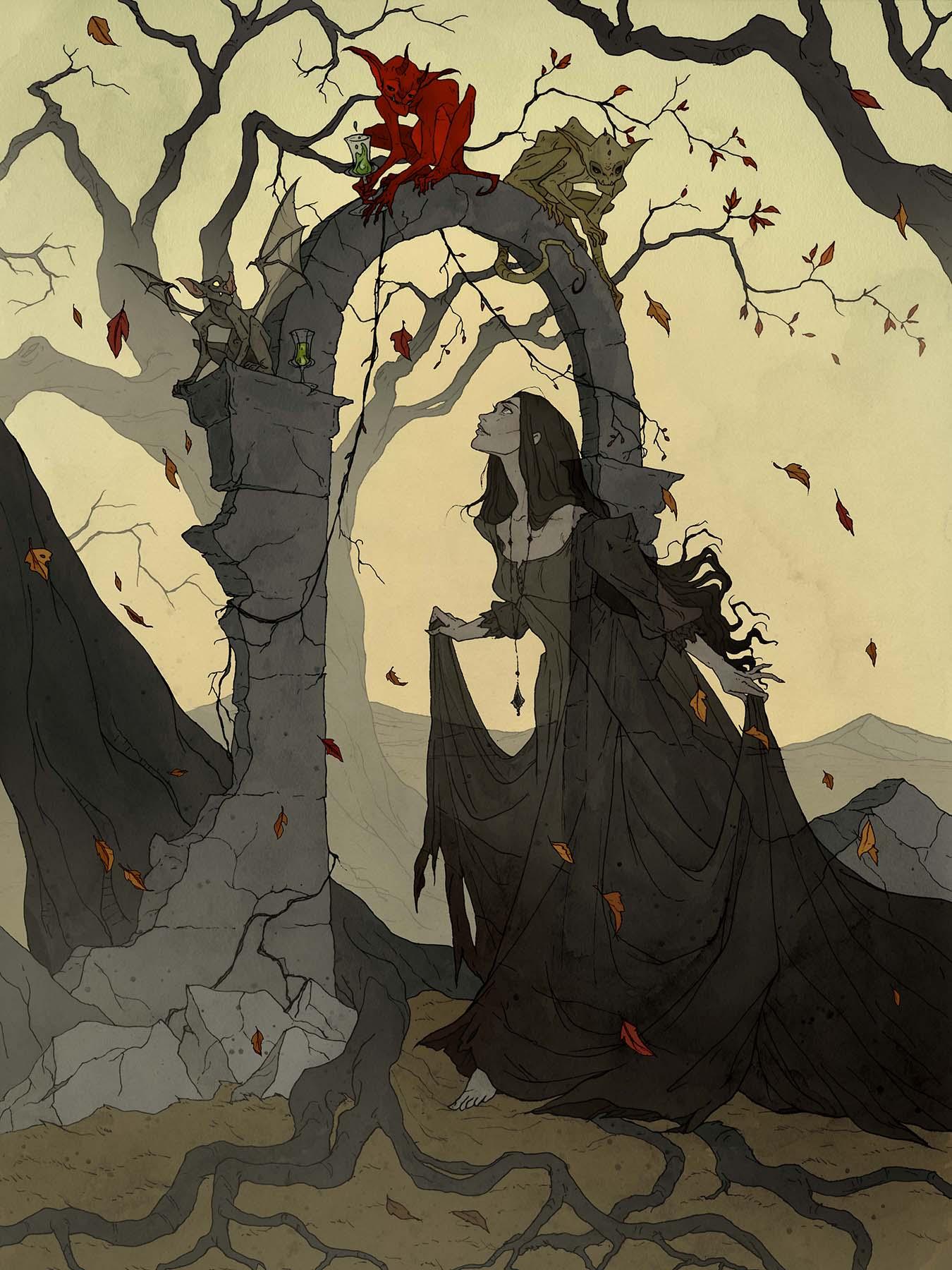 Image de l'artbook Crimson d'Abigail Larson. Apparition.