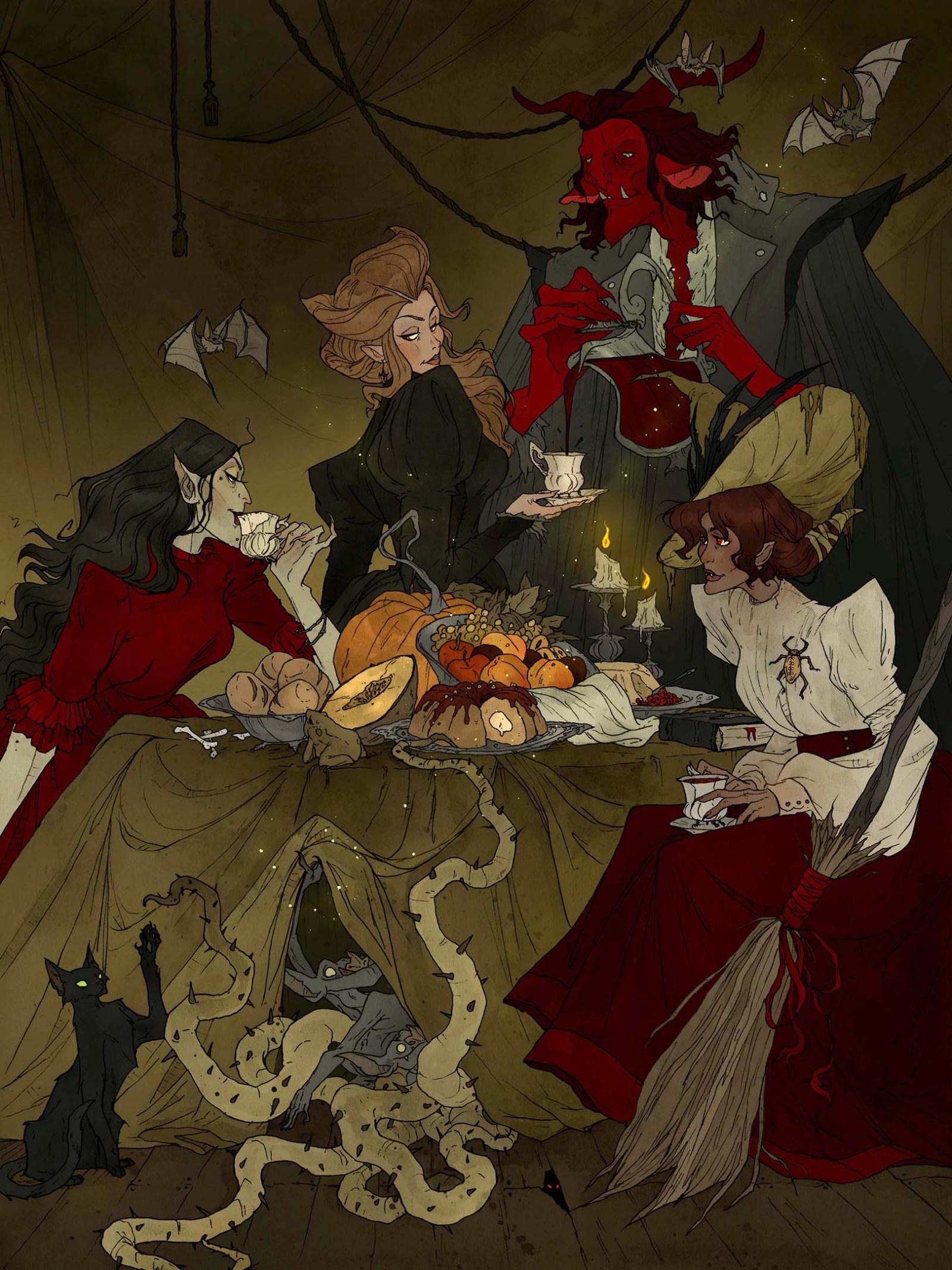 Image de l'artbook Crimson d'Abigail Larson : festin d'automne.