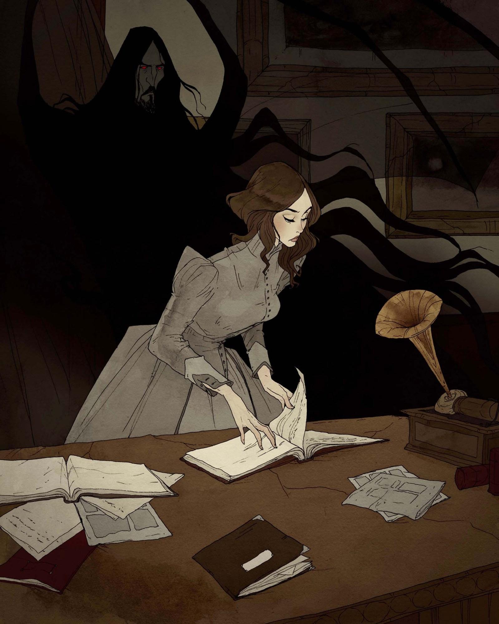 Crimson d'Abigail Larson. Mina et Dracula, la vérité et la peur.