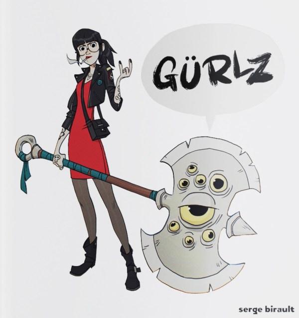 Image de l'artbook Gürlz de Serge Birault.