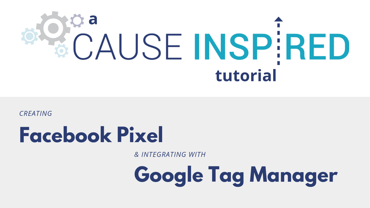 how to create a facebook pixel and integrate it with tag manager