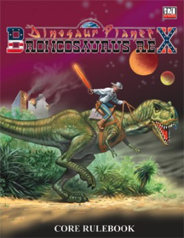 Confederates In Space Riding Dinosaurs