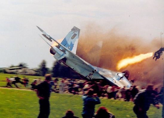 Ukraine Air Show Crash - Eject!