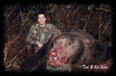 Huge dead bear