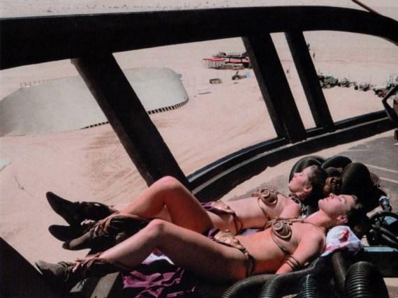 Slave Leia Suntanning
