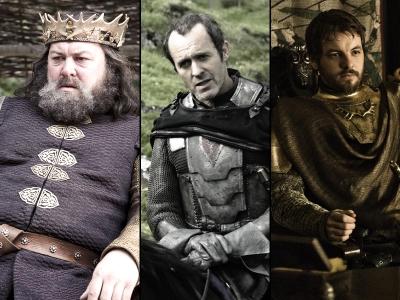 Robert, Stannis, and Renly Baratheon