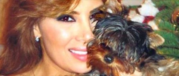 Angie Sanclemente Valencia and her dog